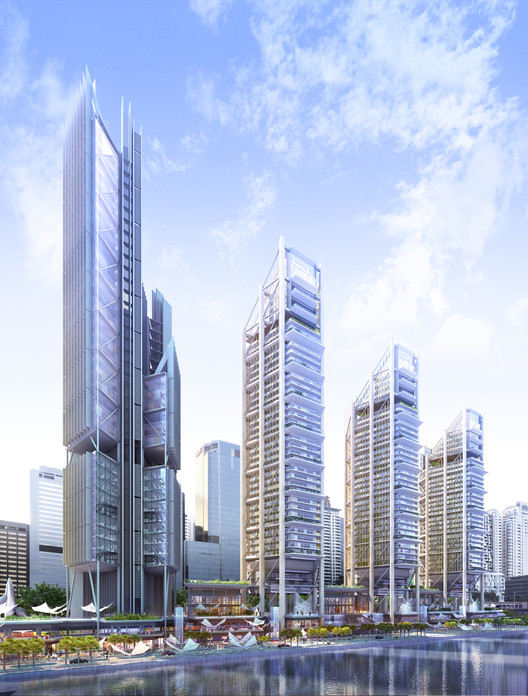 Construction Begins on Rogers Stirk Harbour's First Towers in Middle East, Courtesy of Rogers Stirk Harbour + Partners