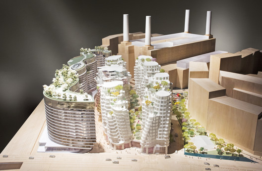Phase 3, Battersea Power Station redevelopment (London). Image Courtesy of Foster + Partners / Gehry Partners