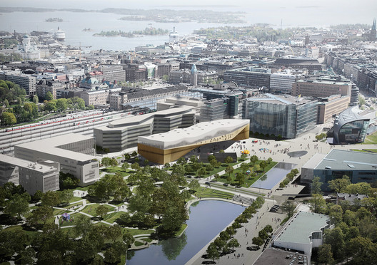 Helsinki Central Library. Image © ALA Architects