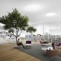 "Top Floor ""Book Heaven"". Image © ALA Architects"