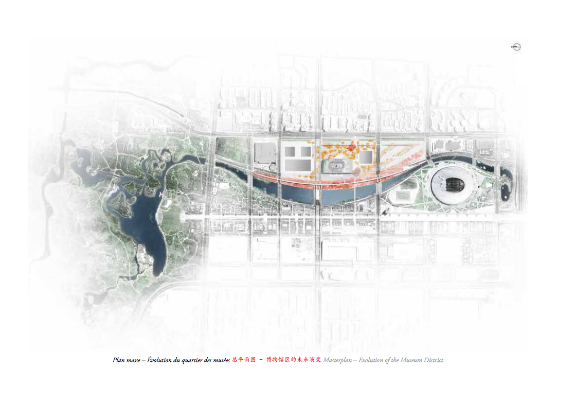 Masterplan - Evolution of the Museum District. Image © Ateliers Jean Nouvel