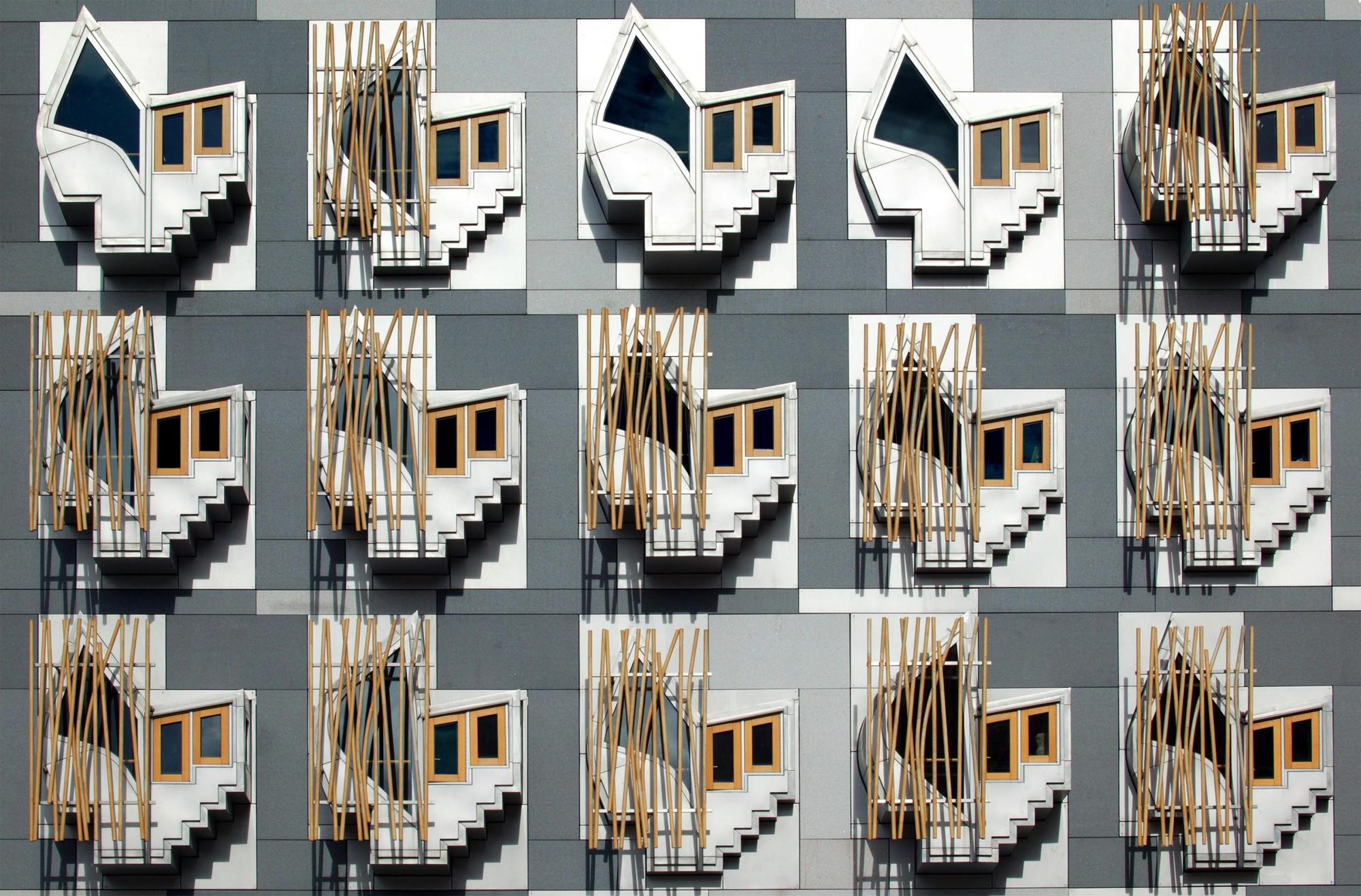 Enric Miralles' Scottish Parliament Building. Image Courtesy of University of Edinburgh