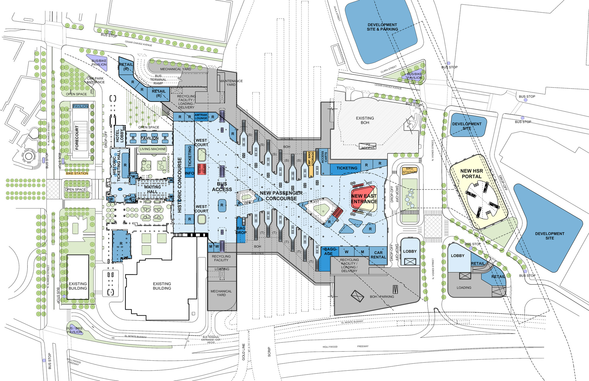 gallery of grimshaw and gruen u0027s la union station masterplan gains