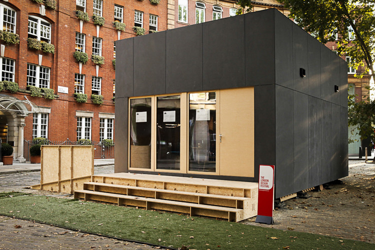 WikiHouse Unveils World's First Two-Storey Open-Source House at London Design Festival, A WikiHouse built by The Building Centre, Arup and Architecture 00. Image © Margaux Carron www.margauxcarron.com