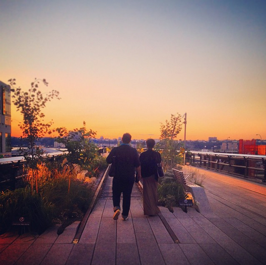 Paul Goldberger on the High Line, Courtesy of Instagram User: highlinenyc