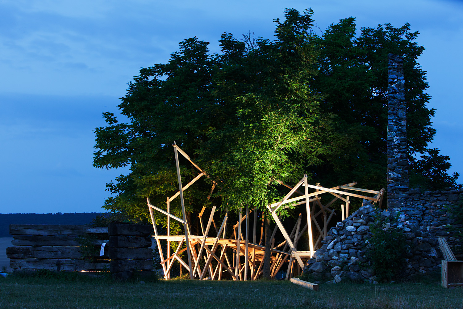 Salvador Gilabert Sanz's project at this year's Hello Wood camp. Image © Tamás Bujnovszky