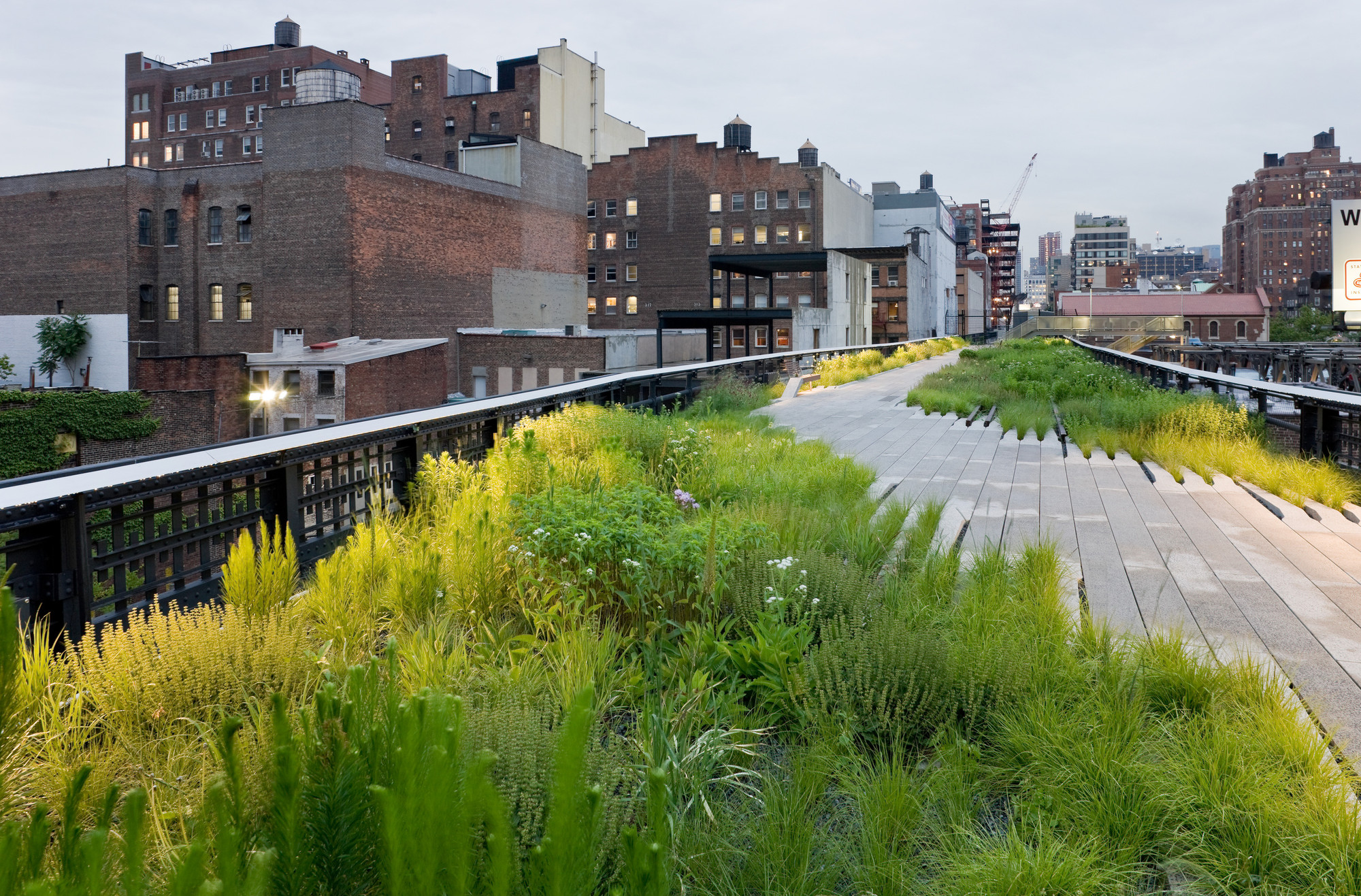 Chelsea Grasslands : Chelsea Grasslands, between West 19th Street and West 20th Street, looking North. Image © Iwan Baan, 2009 (Section 1)