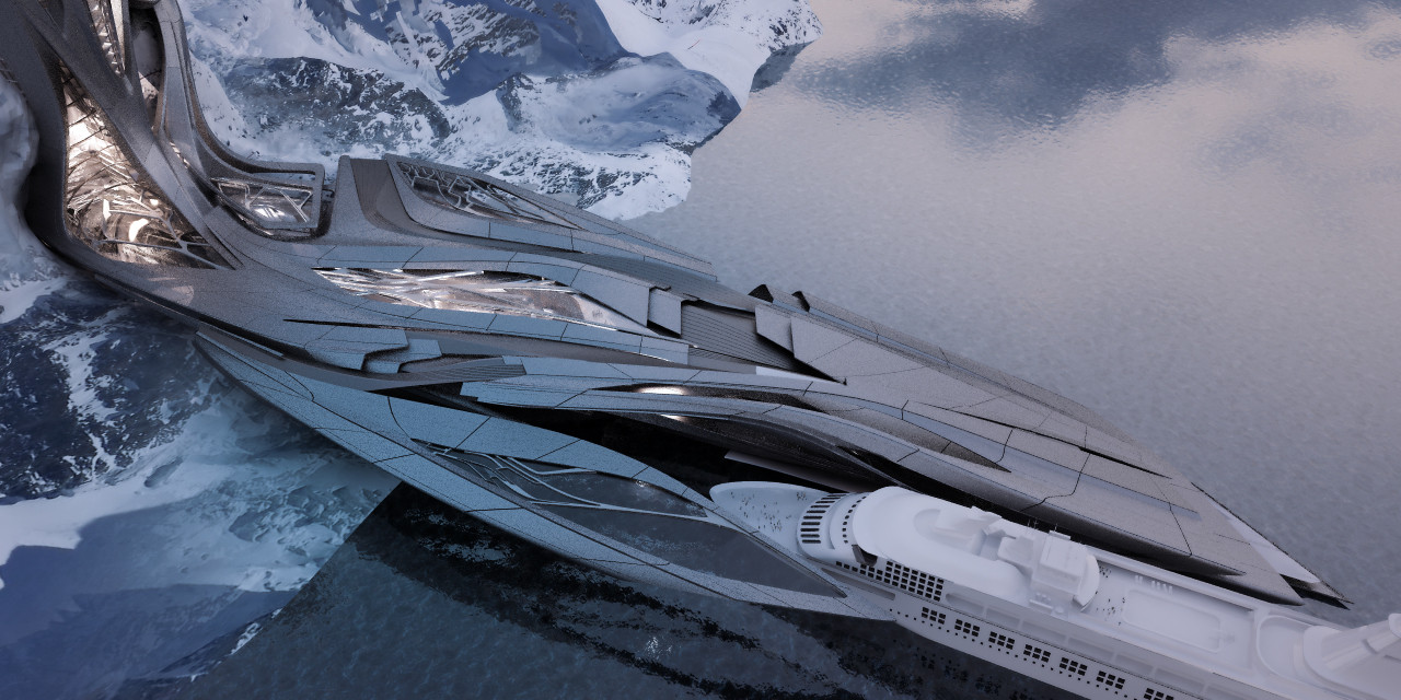 Zaha Hadid's Student Envisions an Antarctic Port For Tourism and Research, Courtesy of Sergiu-Radu Pop