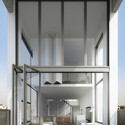 Upper Floor Loft with View of Retractable Wall. Image Courtesy of Triptyque