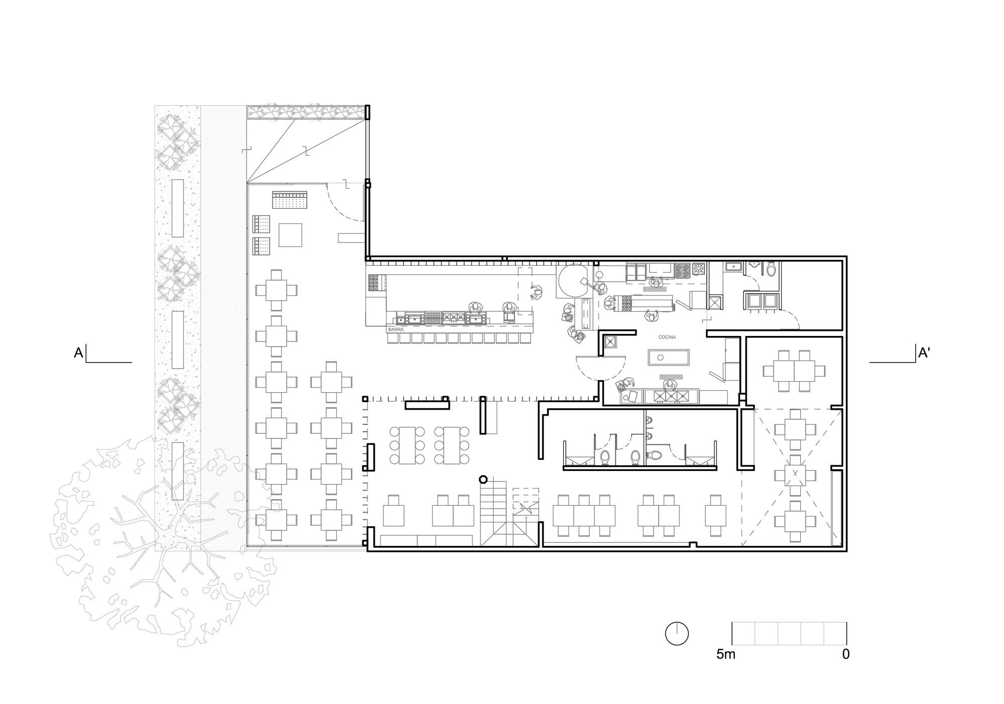 Lc bar regaa estudio arquitectura archdaily for Plan estudios arquitectura