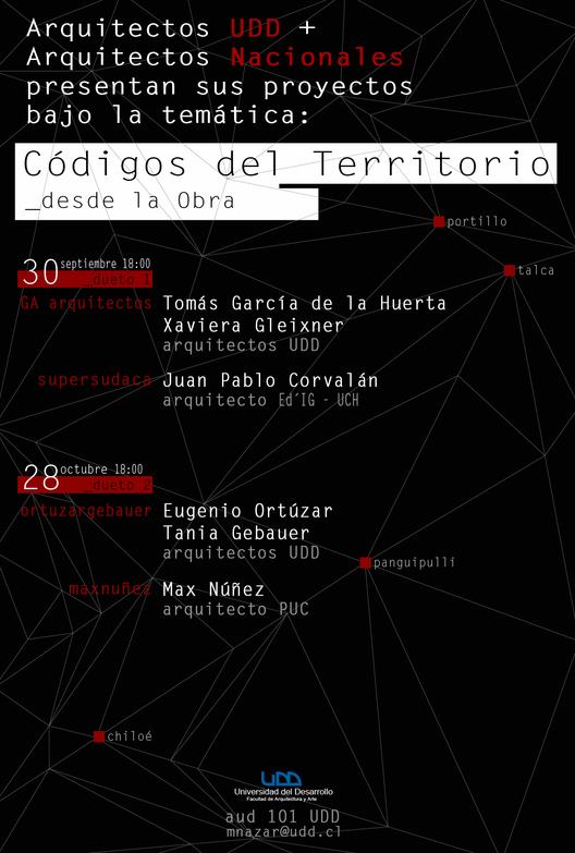 """Dueto """"Códigos del Territorio: desde la Obra"""" / Santiago"""