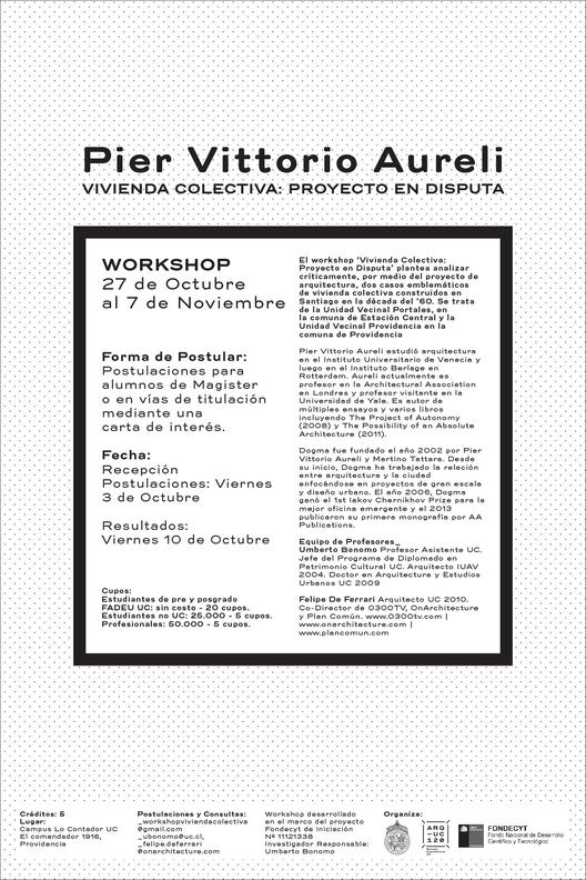 Postulaciones al workshop 'Vivienda Colectiva: Proyecto en Disputa' / Santiago