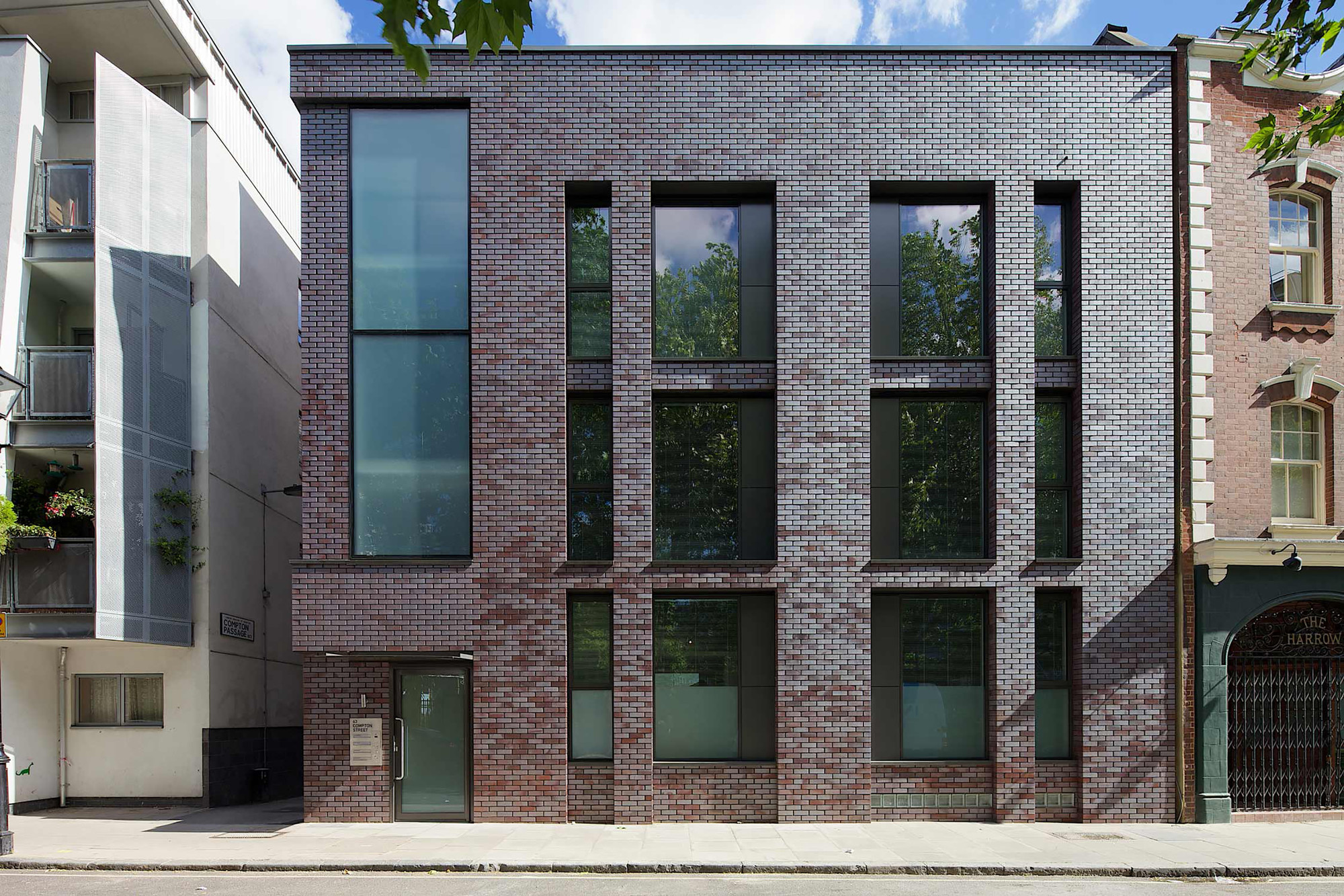 Gray Red Brick Building Block : Compton doone silver architects archdaily