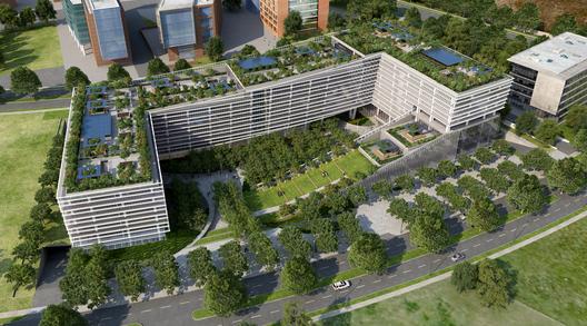 Paisaje y Arquitectura: ¿Es viable el uso de jardines verticales y cubiertas verdes en Santiago de Chile?, World Green Center / cCe arquitectos + Andreu arquitectos. Image Cortesia de cCe arquitectos + Andreu arquitectos