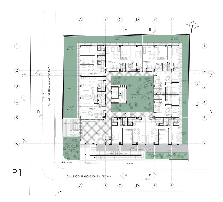 Center Hall Colonial Galeria De Edif 237 Cio Vivalto Najas Arquitectos 11