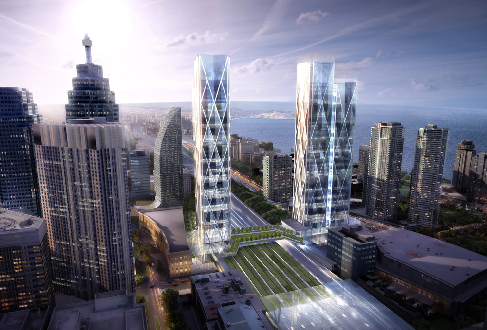 Confirmed: Wilkinson Eyre Designs Large-Scale, Transit-Oriented Development for Toronto, Courtesy of Ivanhoé Cambridge