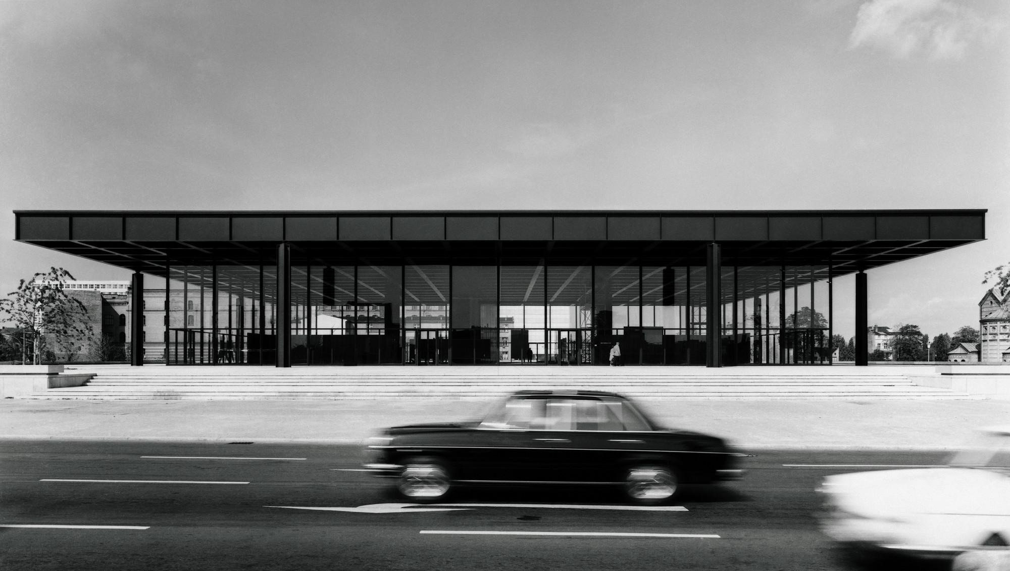 La galería en 1968. Imagen © Archiv Neue Nationalgalerie, Nationalgalerie, Staatliche Museen zu Berlin, foto: Reinhard Friedrich