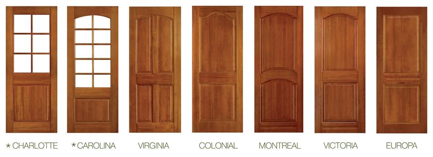 Materiales puertas de madera maciza plataforma arquitectura for Puertas principales modernas en madera