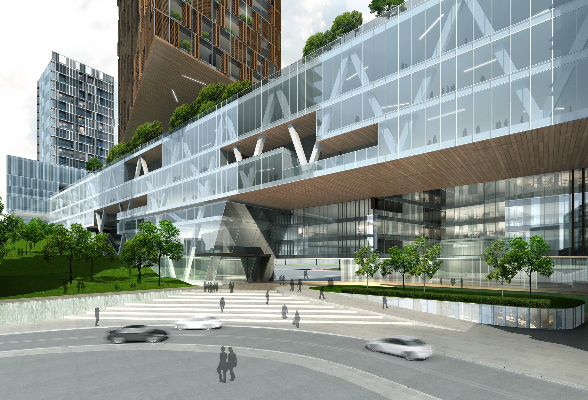 Ampliación del Hospital del Pueblo de Futian / Leigh & Orange Ltd. Imagen cortesía de WAF