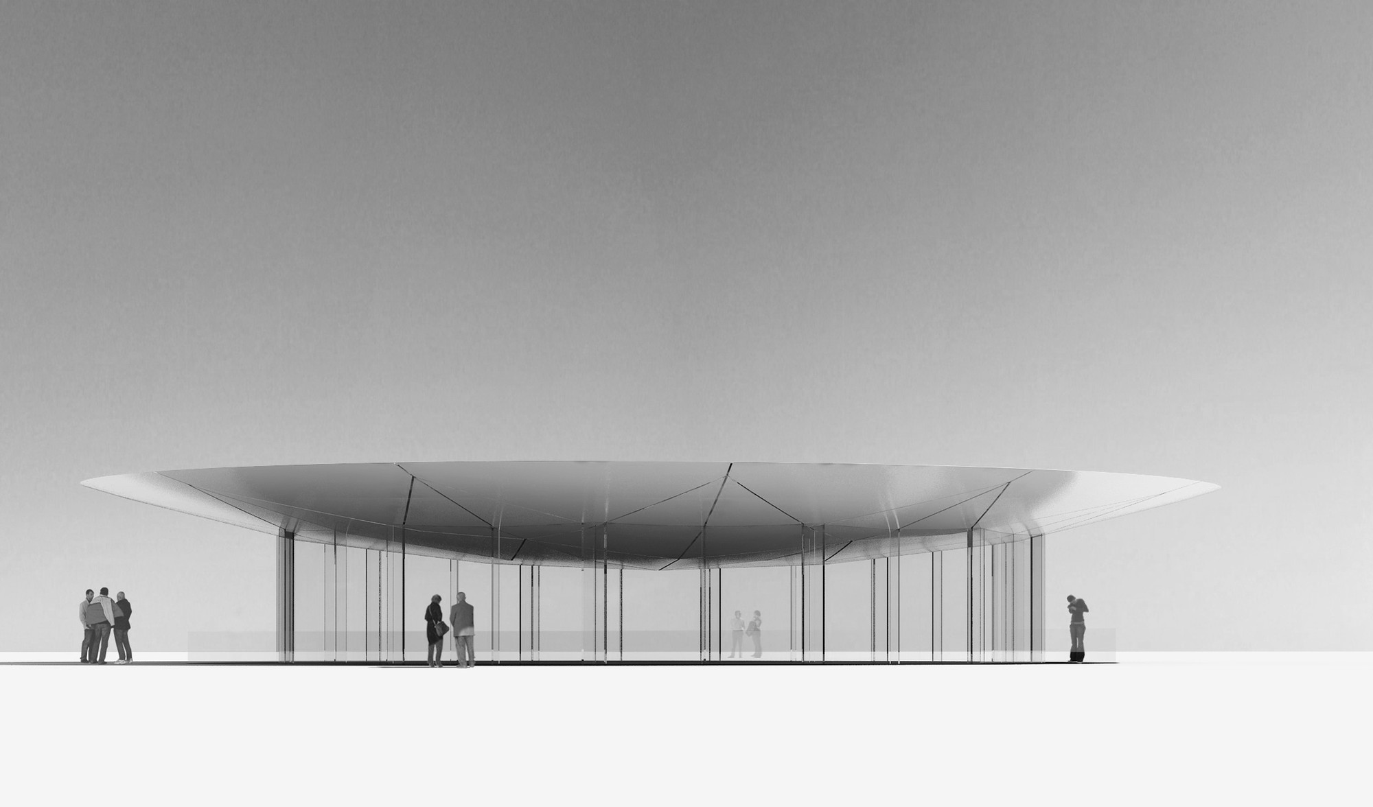 Glass Pavilion: un proyecto de Juan Herreros para la artista Mónica Fuster, Cortesia de Juan Herreros Arquitectos