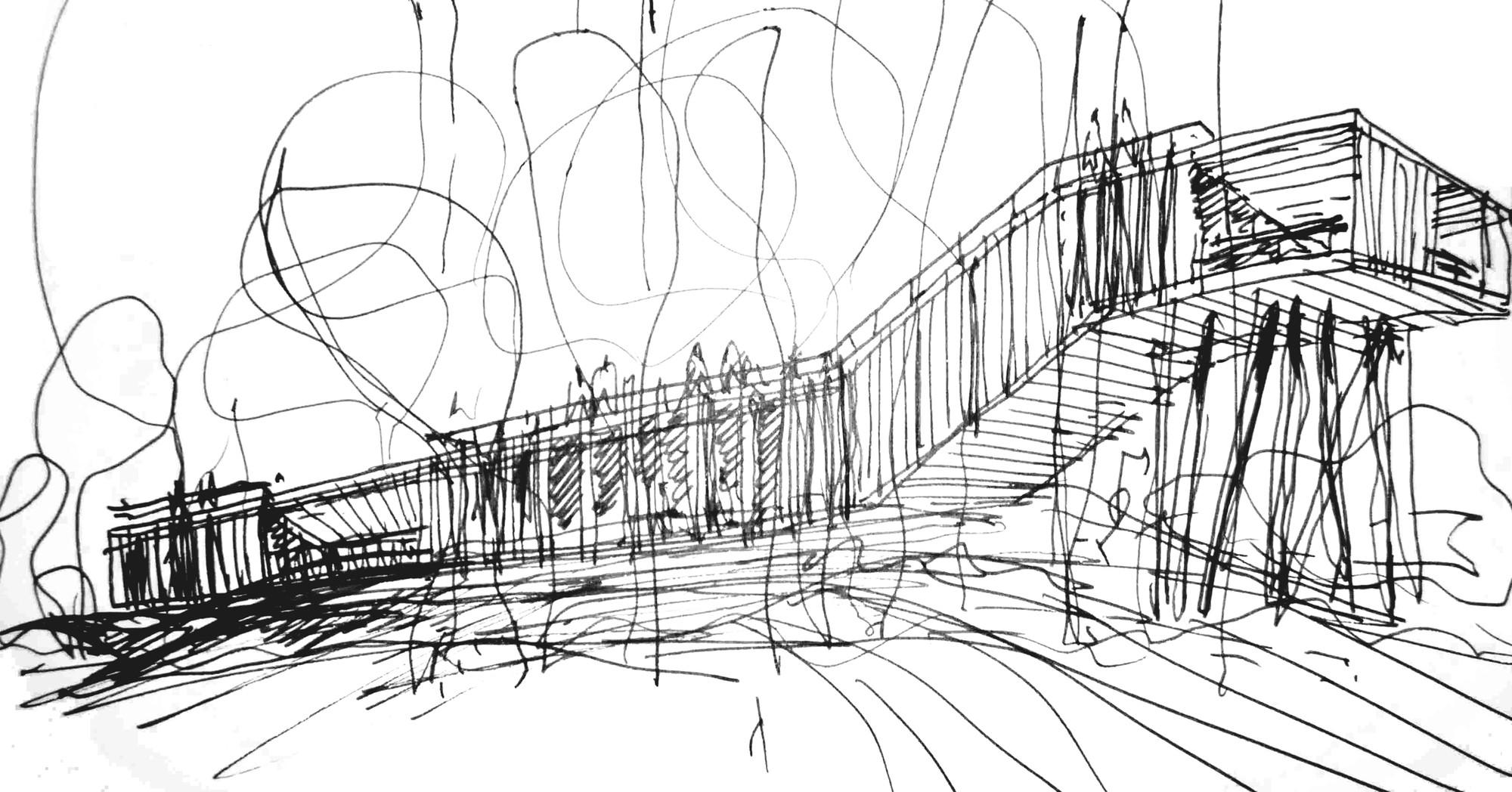 Croquis. Image Cortesia de Estudio Borrachia Arquitectos