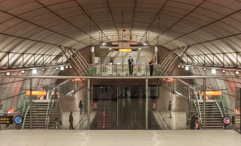 Foster + Partners diseñará las 46 estaciones de futura red de Metro en Arabia Saudita, Recientemente, Foster recibió el BIA Award por su diseño en Metro Bilbao. Imagen © Flickr CC User Jacqueline Poggi