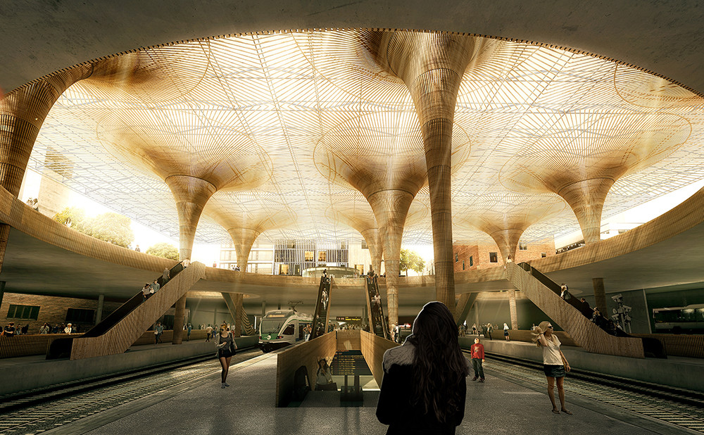 COBE and Lundén Win Competition to Design Transport Hub in Tampere , © Luxigon, courtesy of COBE and Lundén Architecture