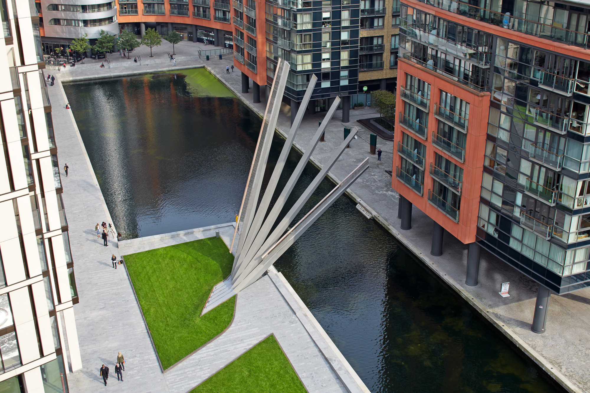 Merchant square footbridge knight architects archdaily for Design bridge london