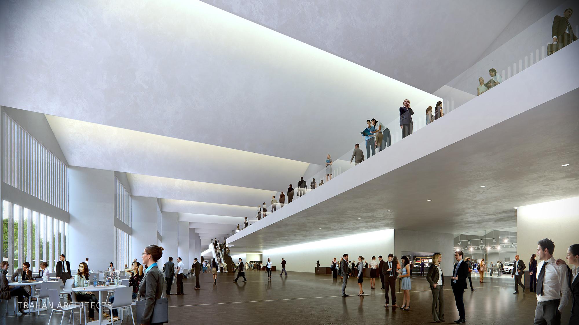 Interior Lobby. Image © Trahan Architects