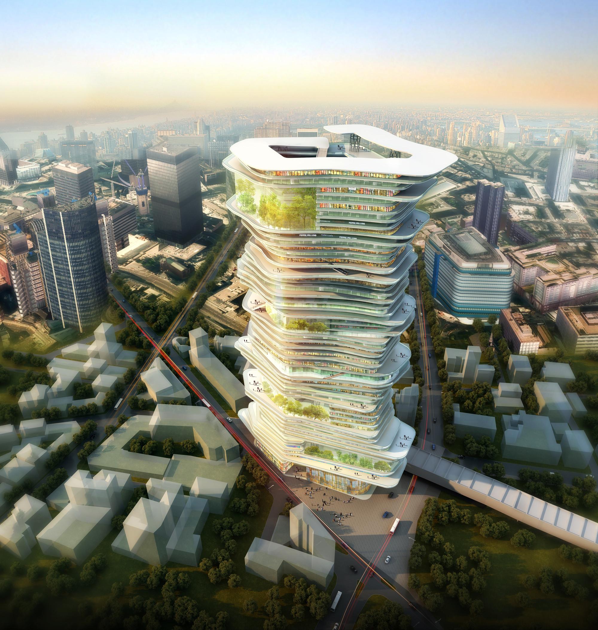 Primer Lugar en concurso de ideas SuperSkyScrapers, Cortesia de SURE Architecture Company