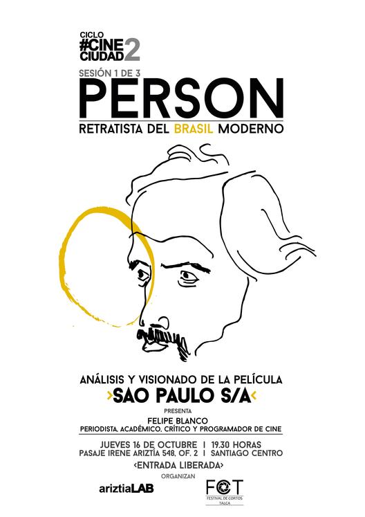 CINECIUDAD2: Person, retratista del Brasil moderno / Santiago, Chile