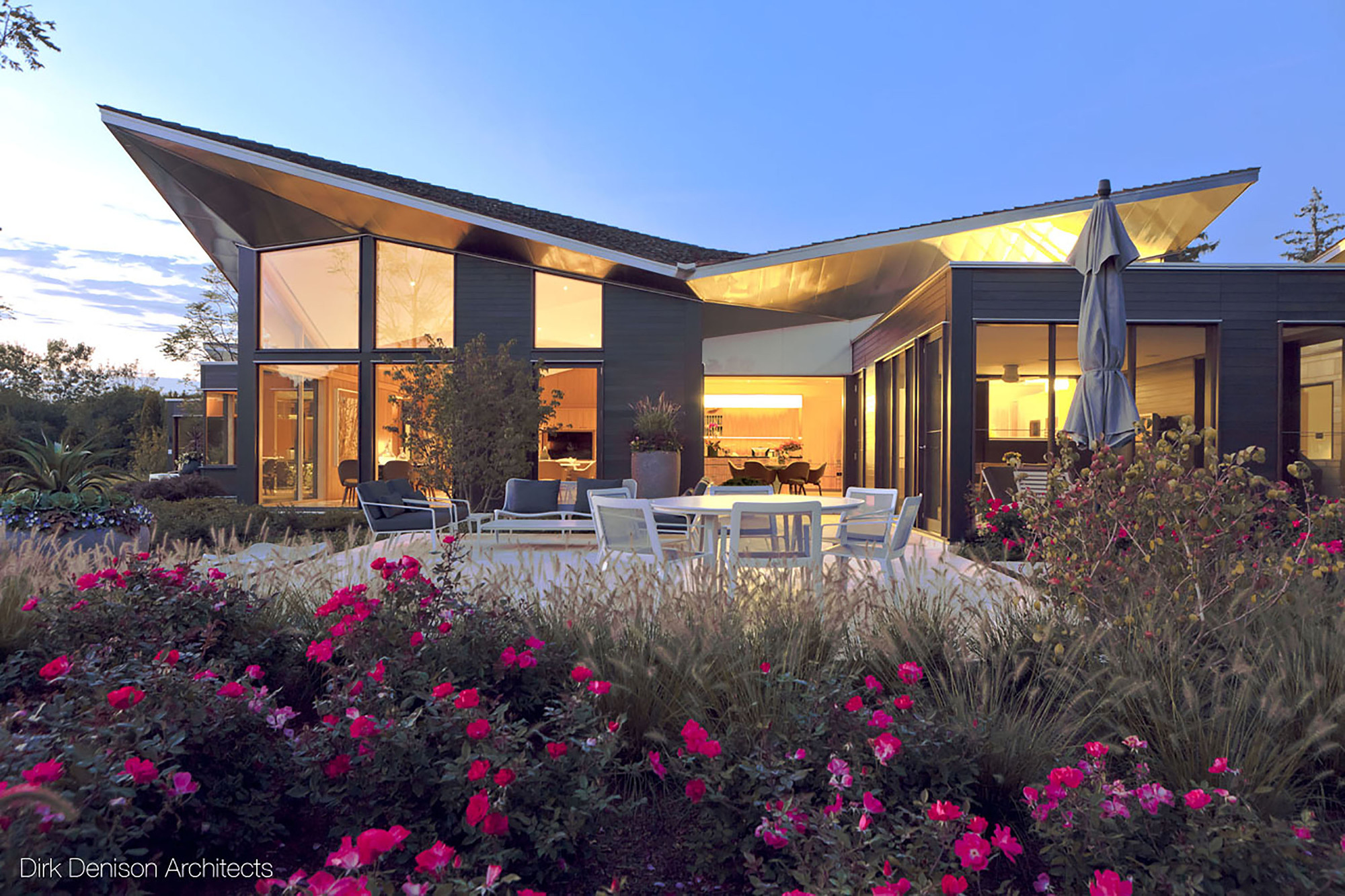 Residencia illinois dirk denison architects plataforma - Residence carmel par dirk denison architects ...