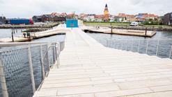 Paisaje y Arquitectura: Baños en el puerto Faaborg como vínculo entre ciudad y mar
