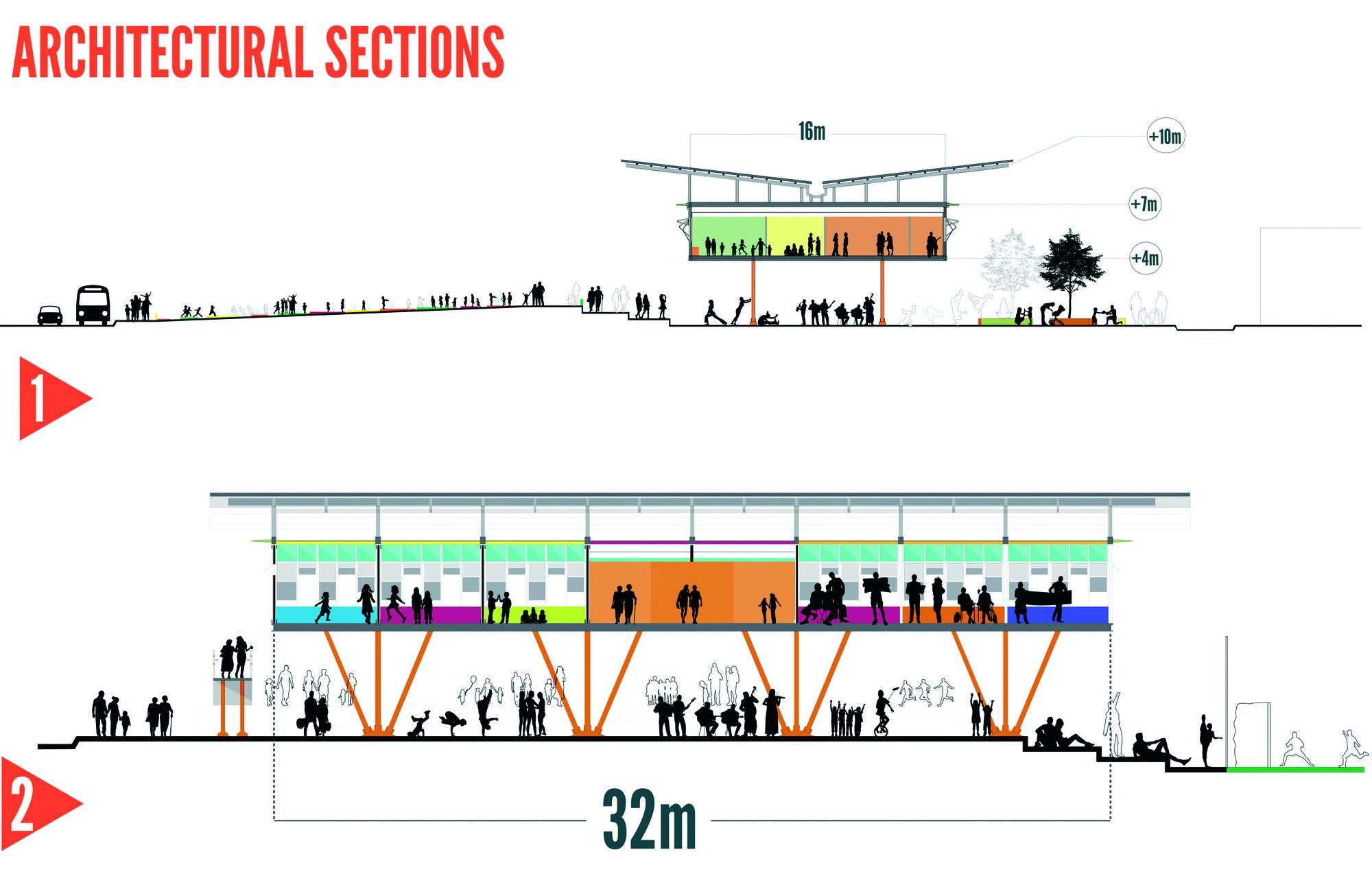 Next Generation: Plaza Mediateca. Image Cortesia de Fundación Holcim