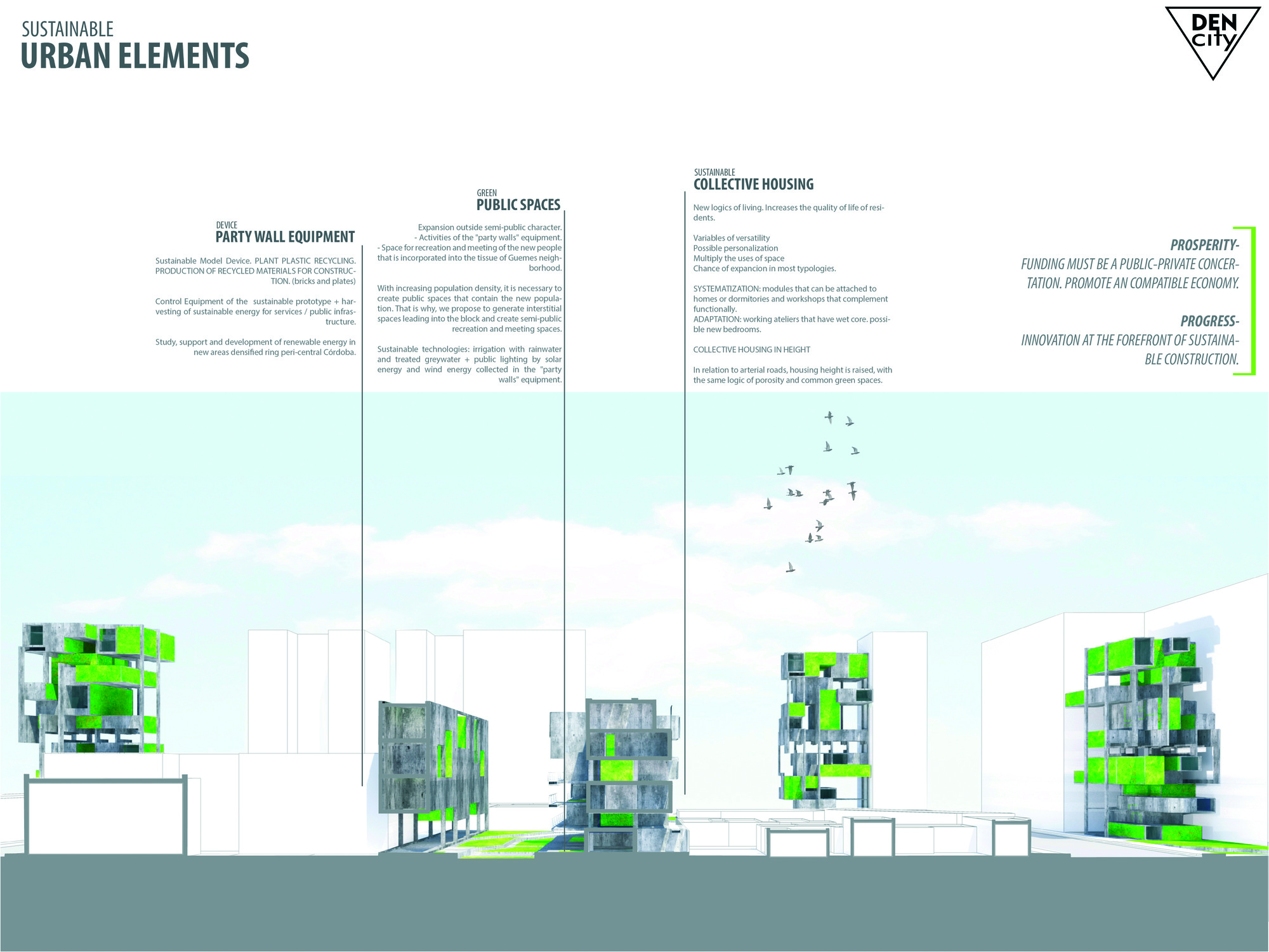 Next Generation: Den-City. Image Cortesia de Fundación Holcim