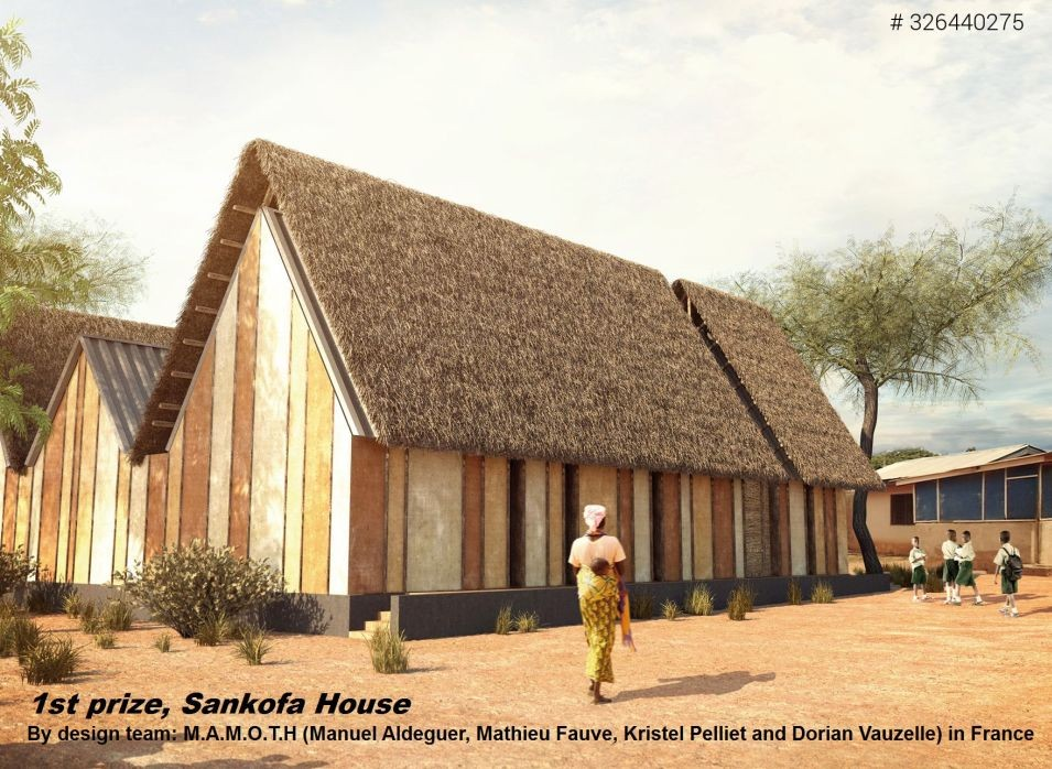 Three Winning Schemes Reinvent the African Mud Hut, FIRST PRIZE: Sankofa House / M.A.M.O.T.H (France). Image Courtesy of Nka Foundation