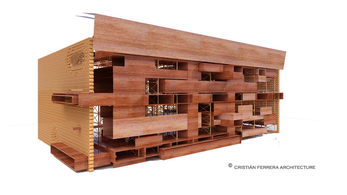 Maqueta. Image Cortesia de cristián ferrera arquitectura