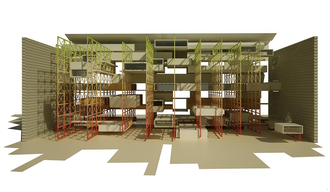 BIA-AR: Proyecto explora la convivencia y la autosostenibilidad habitacional en altura, Cortesia de cristián ferrera arquitectura