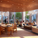 "Residents' Lounge in Gehry Partners' ""Flower"" Building. Image Courtesy of Battersea Power Station"