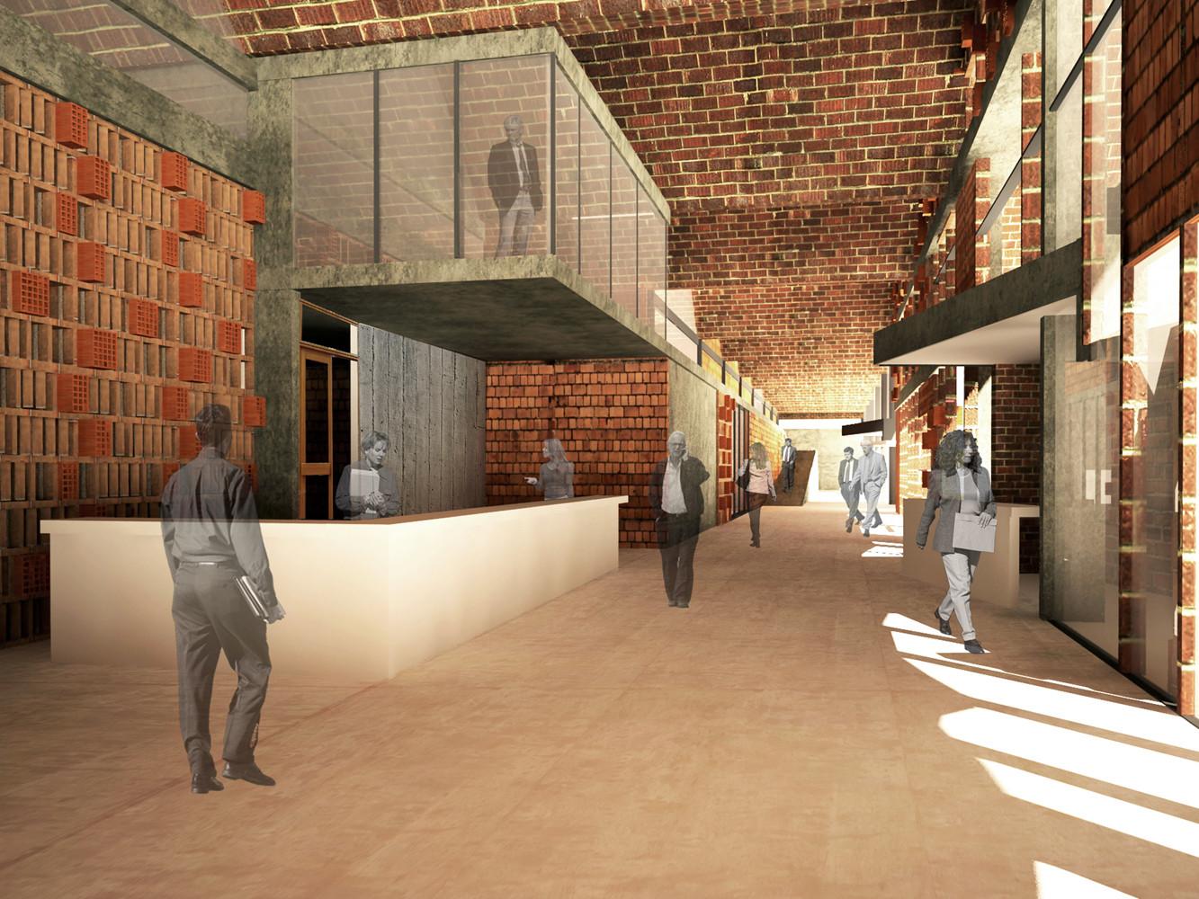 Hall. Image Cortesia de Equipo Mención Honrosa