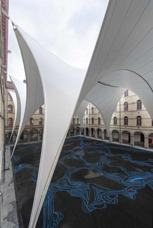 Cubierta para el Patio Carré des Arts in Mons / AgwA + Ney & Partners, © Marie-Françoise Plissart