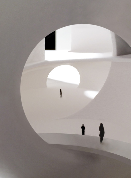 Oceanic Pavilion, entry and public space. Image © Steven Holl Architects