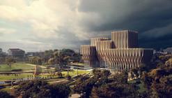 Zaha Hadid propõe cinco torres de madeira para o Instituto do Genocídio do Camboja