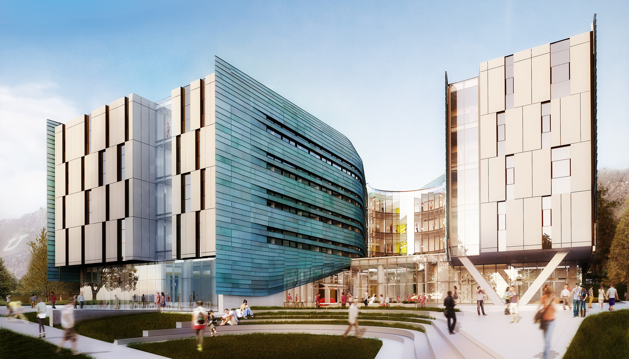 "EDA Breaks Ground on the University of Utah's Newest Place to ""Live, Work, and Create"", Exterior. Image Courtesy of Lassonde Entrepreneur Institute"