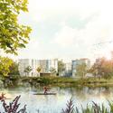 Primer Lugar en Concurso de viviendas y espacio verde público / Aarau, Suiza Cortesia de amann-canovas-maruri + Adelino Magalhaes