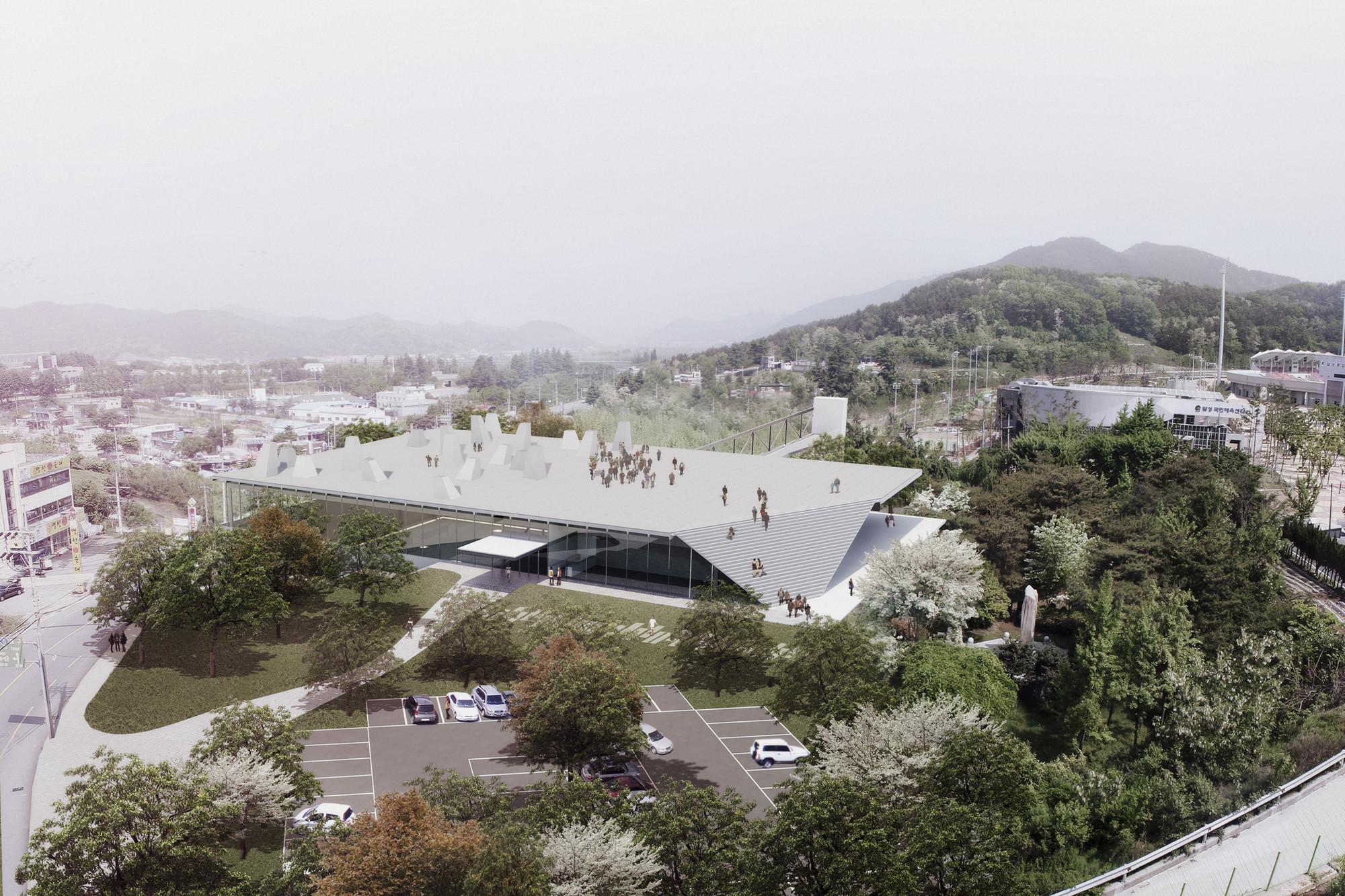 Competition Entry: Pedro Livni + Fernando De Rossa's Proposal for Dalseong Citizen's Gymnasium, © Pedro Livni + Fernando De Rossa