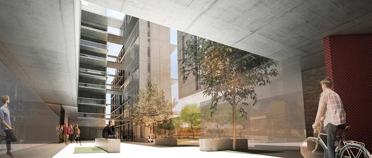 Primer lugar en III concurso nacional de viviendas para futura Villa Olímpica JOJ 2018 / Buenos Aires, Cortesía de Estudio Materia