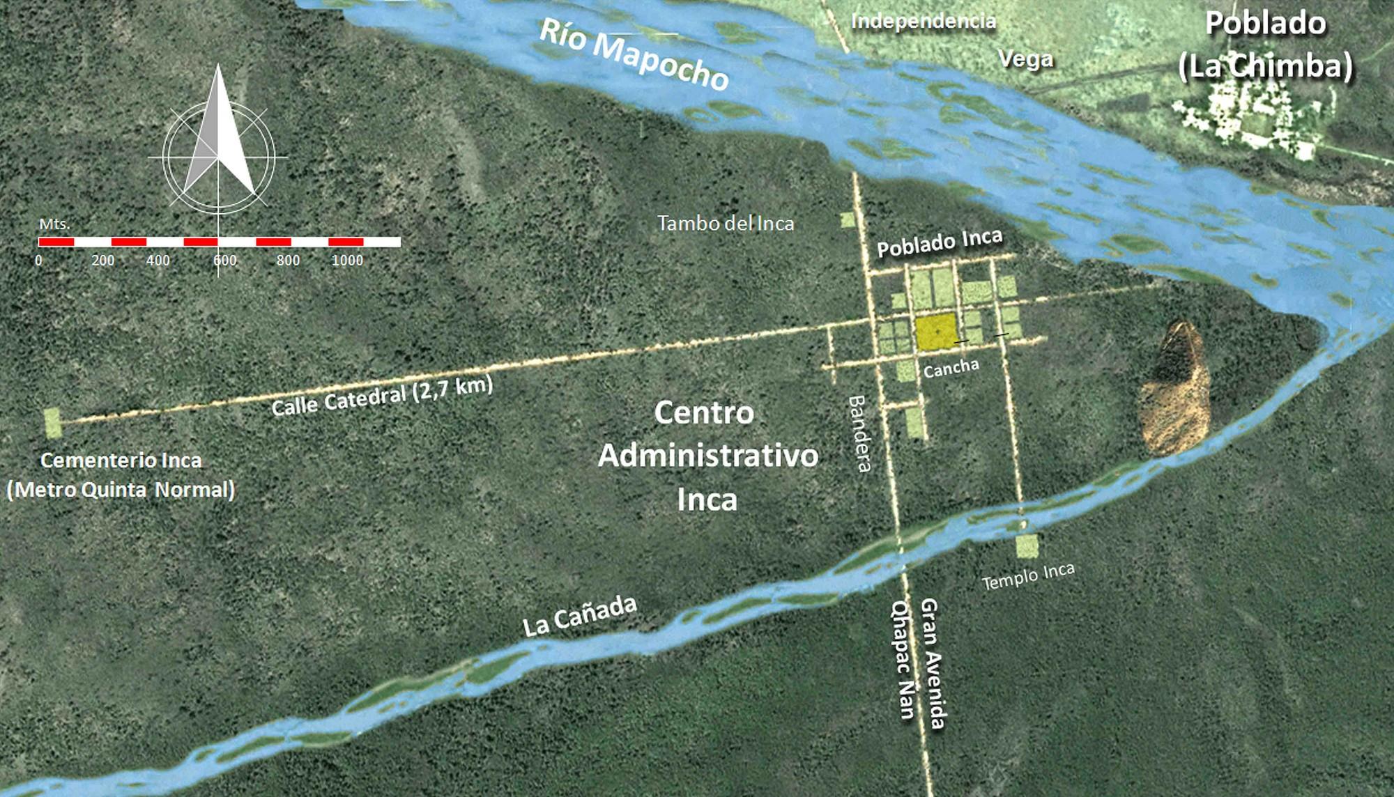 El Cuzco del Mapocho hasta 1540. Image Cortesia de CANCHA + WACA