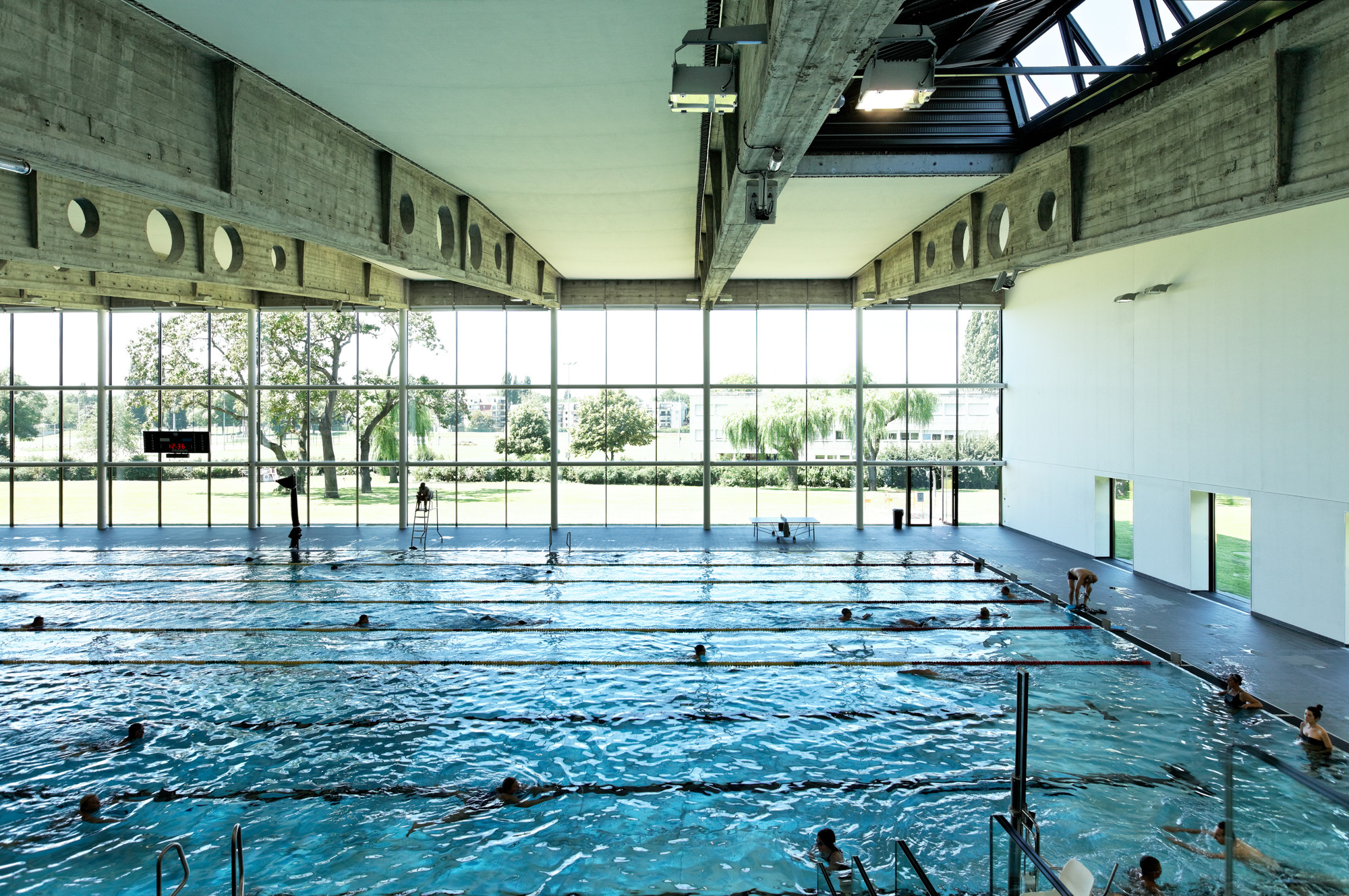Gallery of swimming pool kibitzenau dietmar feichtinger - Piscine a strasbourg ...
