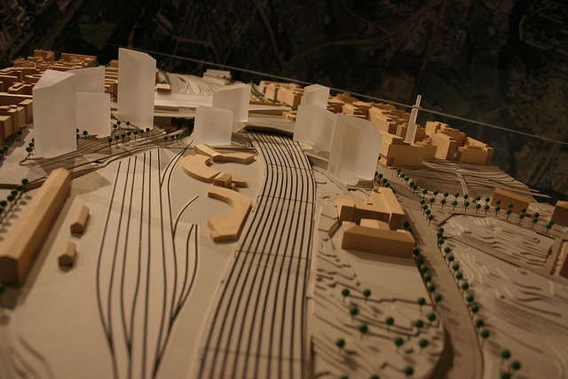 Helsinki Announces Competition for City Centre High Rises, The Pasila district has been marked for development for some time. Above, a model of the area masterplan from 2006. Image © Flickr CC User Darren Webb